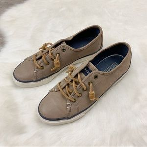 Sperry Top Sider Leather Slip On Shoes